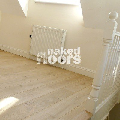 Natural Oak Engineered Wood Flooring Laid