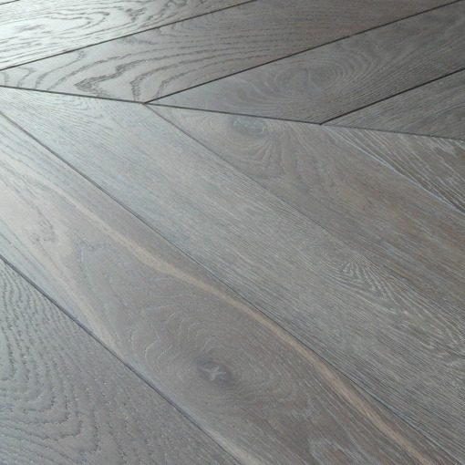 Repro Reclaimed French Chevron Parquet Engineered