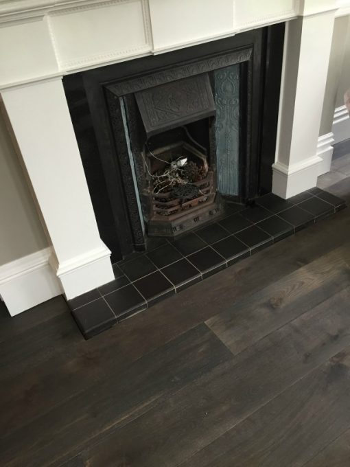 Henge Oak Dark Grey Sample