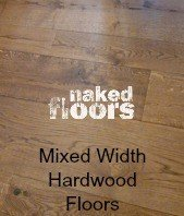 Mixed Width Hardwood Floors
