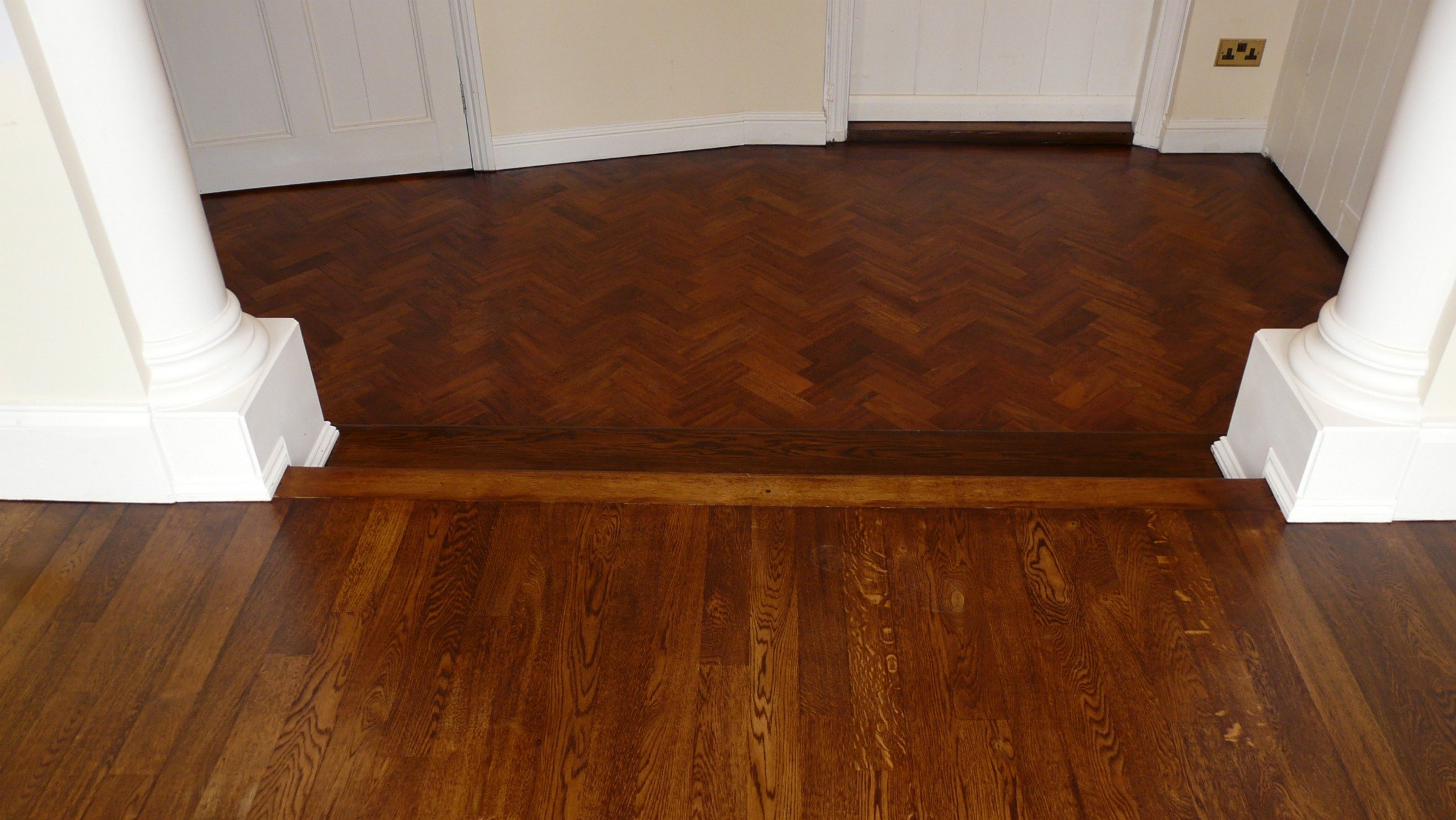 Portfolio wooden floor examples naked floors for Parquet hardwood flooring