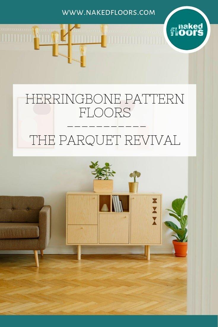 Herringbone pattern floors Copyright Naked Floors blog