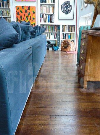 Penthouse wood floor reclaimed wooden flooring