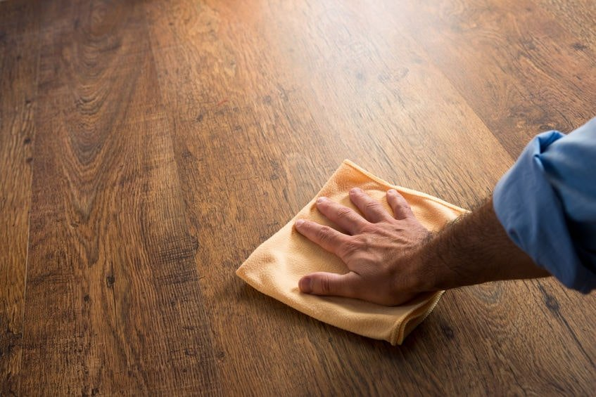 spot clean a wooden floor naked floors