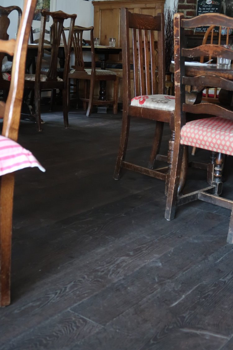 Aged wooden floors