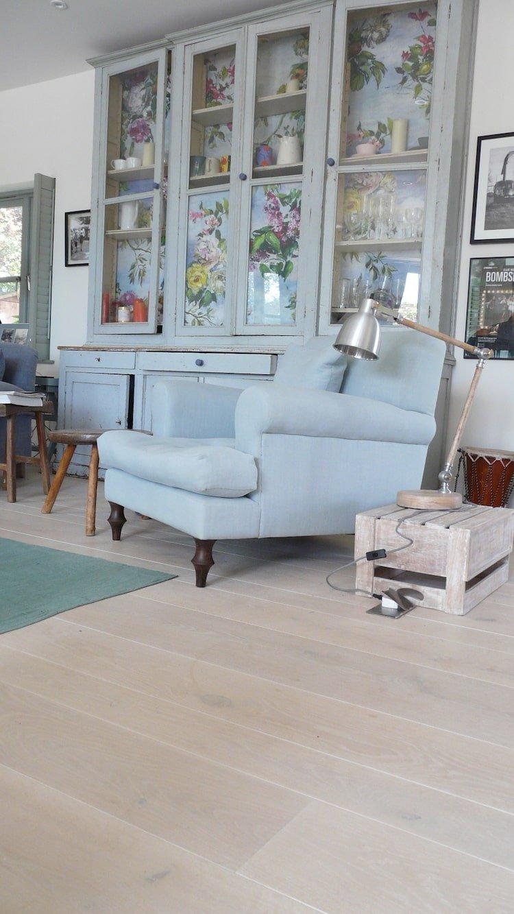 Naked Floors Shabby chic white floorboards